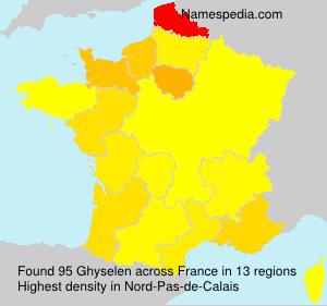 Surname Ghyselen in France