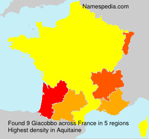 Surname Giacobbo in France