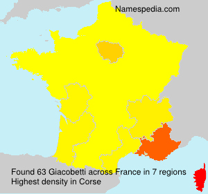 Surname Giacobetti in France