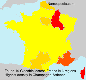 Surname Giacobini in France