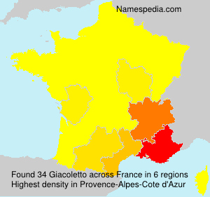 Surname Giacoletto in France