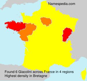 Familiennamen Giacolini - France