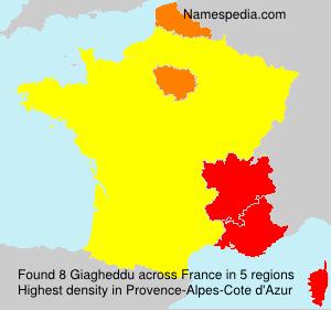 Surname Giagheddu in France