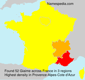 Surname Giaime in France