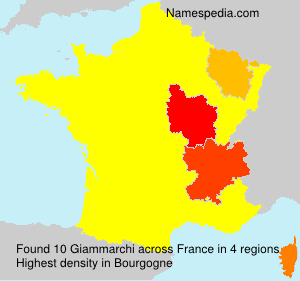 Surname Giammarchi in France
