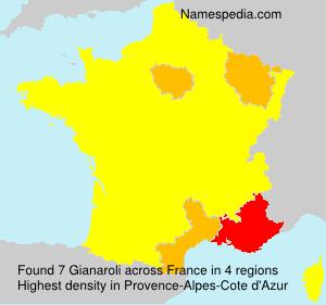 Familiennamen Gianaroli - France