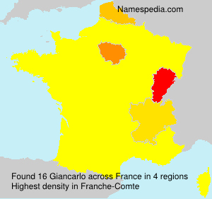 Surname Giancarlo in France