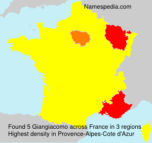 Familiennamen Giangiacomo - France