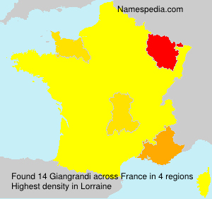 Surname Giangrandi in France