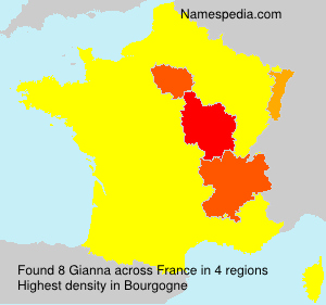 Surname Gianna in France