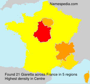 Surname Giaretta in France