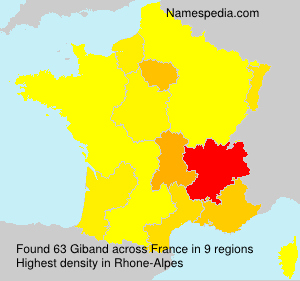 Surname Giband in France