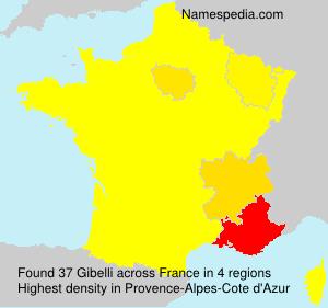 Surname Gibelli in France
