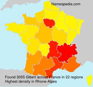 Surname Gibert in France
