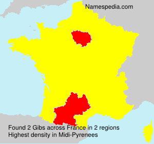 Surname Gibs in France