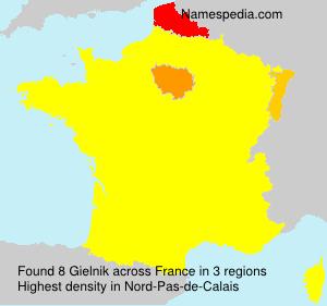 Surname Gielnik in France