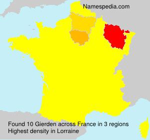 Familiennamen Gierden - France