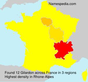 Familiennamen Gilardon - France