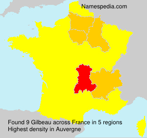 Surname Gilbeau in France
