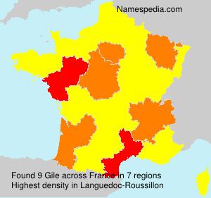 Surname Gile in France