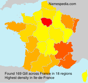 Surname Gill in France
