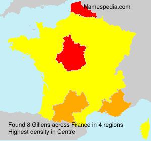 Surname Gillens in France