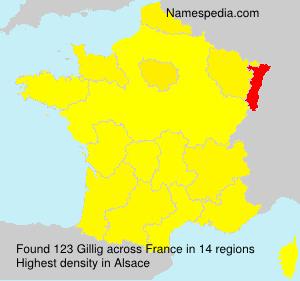 Surname Gillig in France