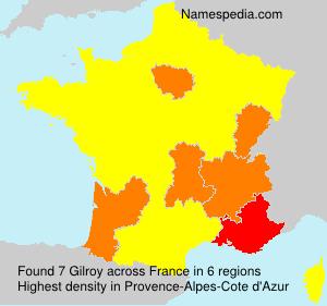 Familiennamen Gilroy - France