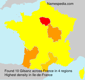 Surname Gilsanz in France