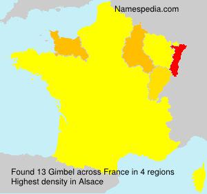 Surname Gimbel in France