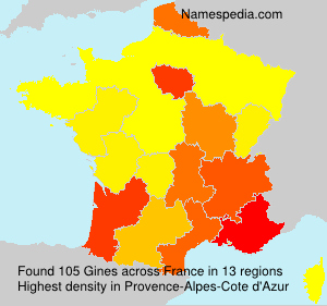 Surname Gines in France