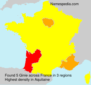 Surname Ginie in France