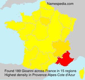 Surname Gioanni in France