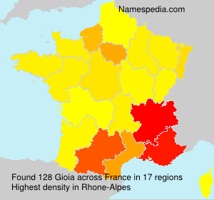 Surname Gioia in France