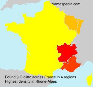 Familiennamen Giolitto - France