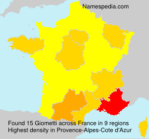 Surname Giometti in France