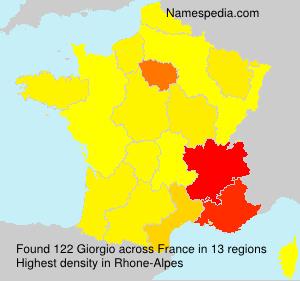 Surname Giorgio in France