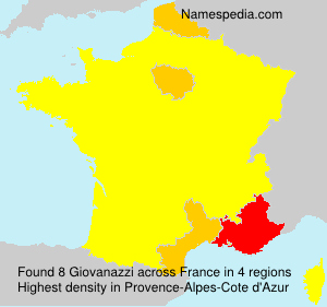 Surname Giovanazzi in France