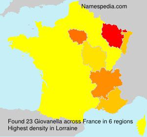 Familiennamen Giovanella - France