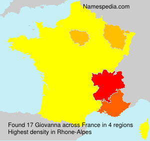 Surname Giovanna in France