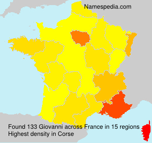 Surname Giovanni in France