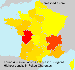 Surname Gireau in France