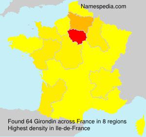 Surname Girondin in France