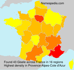 Surname Gisele in France