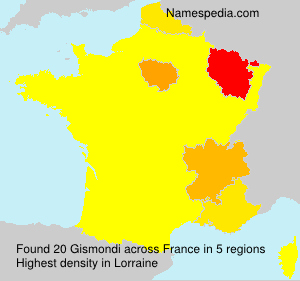 Surname Gismondi in France