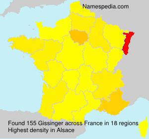 Surname Gissinger in France