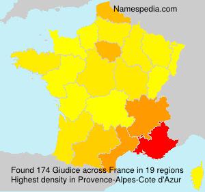 Surname Giudice in France