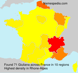 Surname Giuliana in France