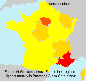 Surname Giussani in France