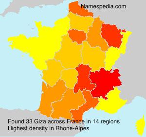 Familiennamen Giza - France